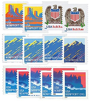 1995-2004 Am. Scenes, 14 stamps