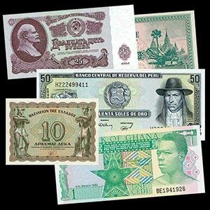 50 Uncirculated World Banknotes