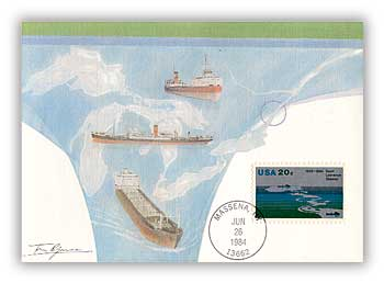 1984 20c St Lawrence Seaway Maximum Card