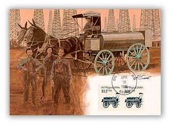1985 10.1c Oil Wagon Maximum Card