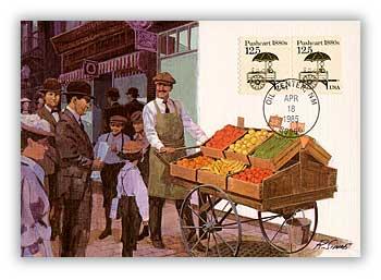 1985 12.5c Pushcart Maximum Card