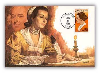 1985 22c Abigail Adams Maximum Card