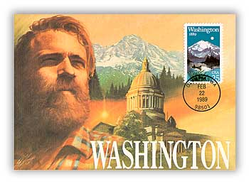 Item #M89-5 –1989 Washington Maximum Card.