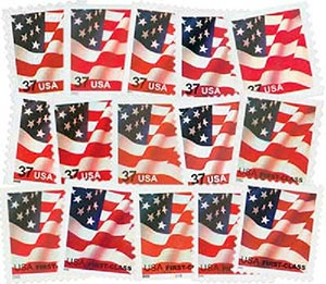2002-05 US Flag Series, 20 mint stamps