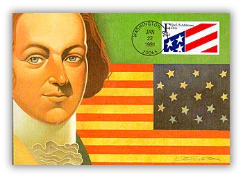 1991 29c Nondenominated Flag ATM Maximum Card