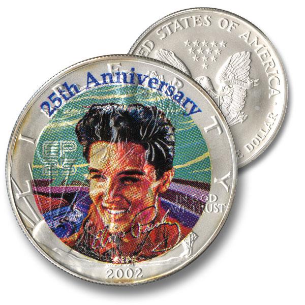 "Elvis ""King"" Tribute Silver Dollar"