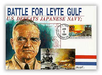 Item #M94-9 – Leyte Gulf first day postal card.