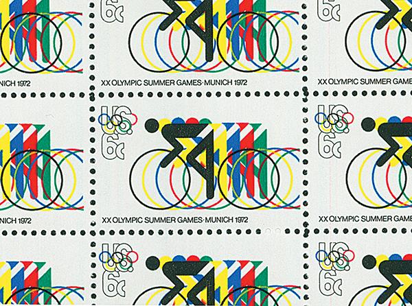 1972 6c Summer Olympics #1460 flaw