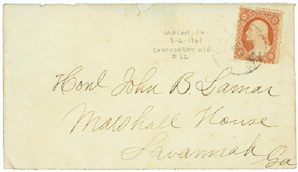 1861 Civil War Confederate Use of U.S.