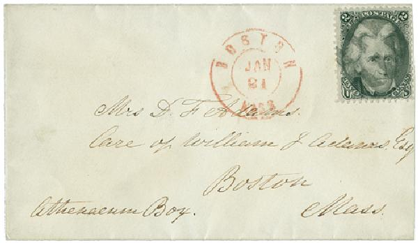1863 2c Jackson #73 on Cover, Drop Rate