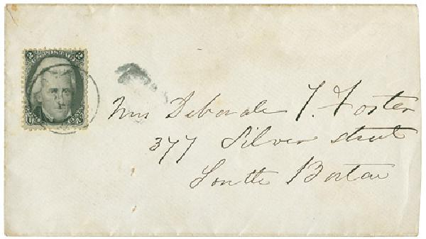 1863 2c Jackson #73 on Cover, Local Delivery