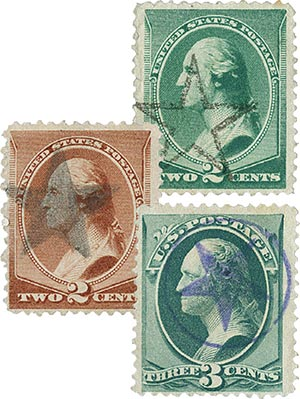 3 Different Star Fancy Cancels