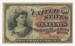 1862-76 Fractional Currency, worn cond.