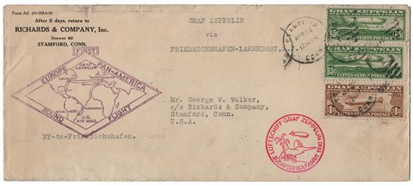 1930 2 #C13, 1 #C14 Graf Zepplin