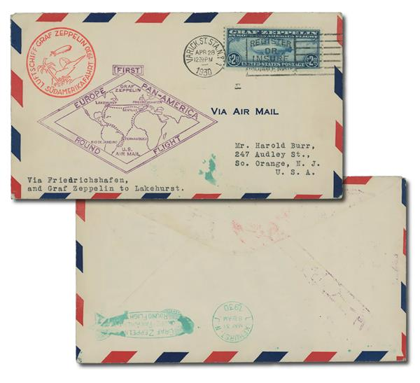 1930 Zeppelin C15 blue, flown cover