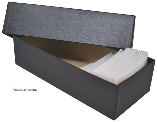 Storage Box Fits 3 1/2 x 6 inch #5 Glassines, Black