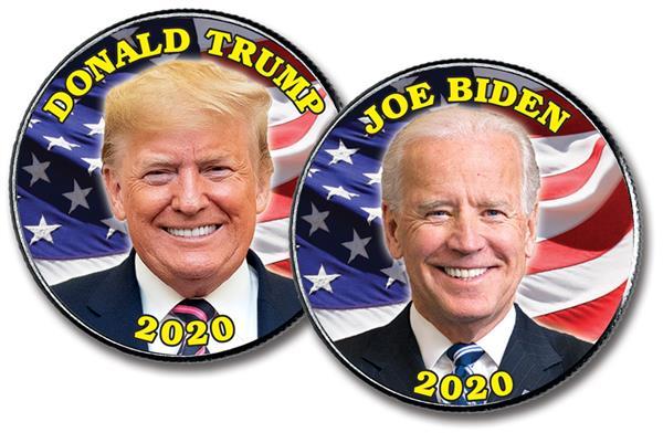 2020 Trump/Biden Presidential Candidates 2-Sided US Half-Dollar, 10 Coins