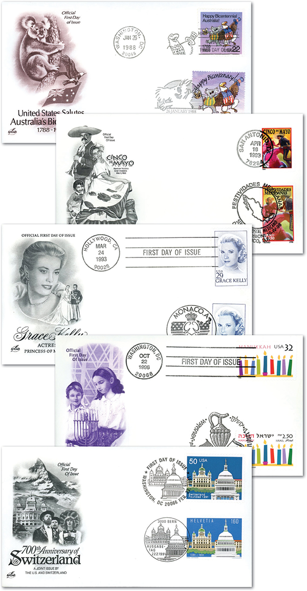 Joint-Issue First Day Covers, Set of 5