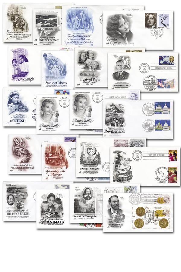 Joint-Issue First Day Covers - 20 covers