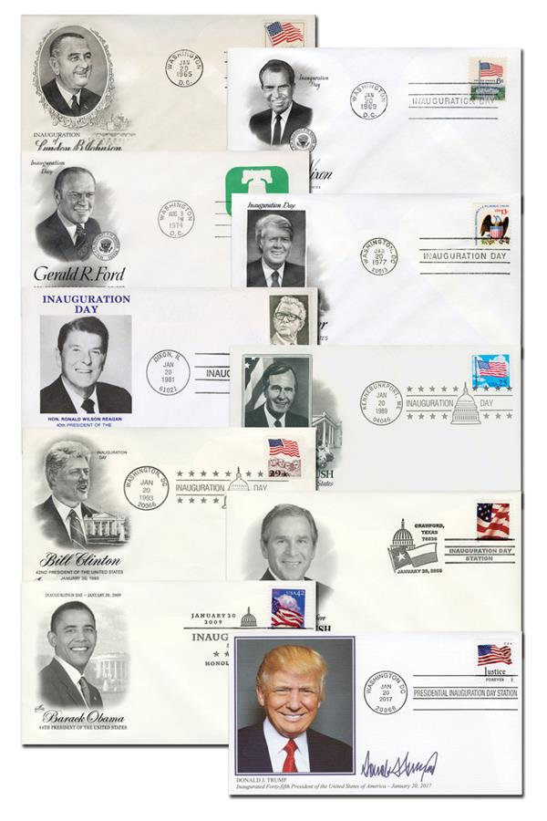1965-2017 Presidential Inaugural Covers, Set of 10
