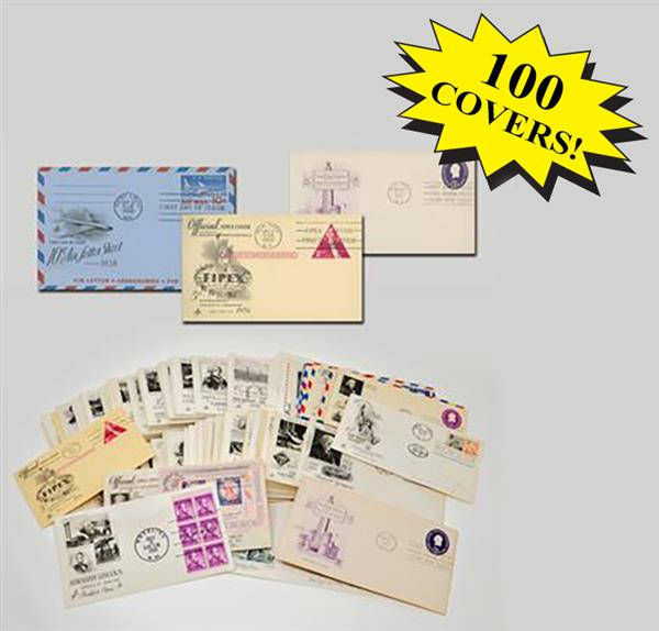 1950s First Day Covers, Collection of 100
