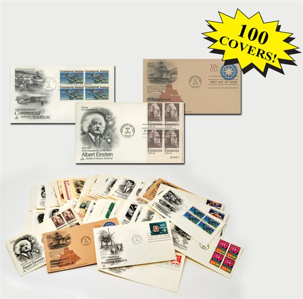 1970s First Day Covers, Collection of 100