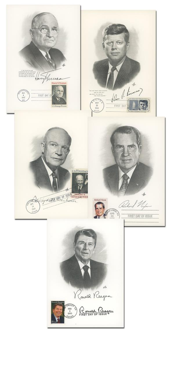 1964-2005 President Offer, Set of 5 Portrait Covers