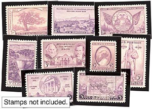 1935-36 Year Set Mounts (9)