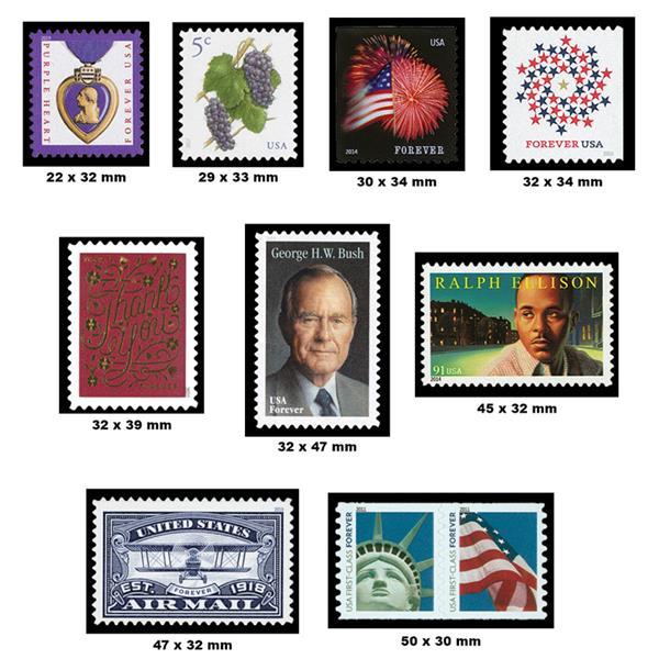 450 Black Mounts, Split-back, for Self-adhesive Stamps