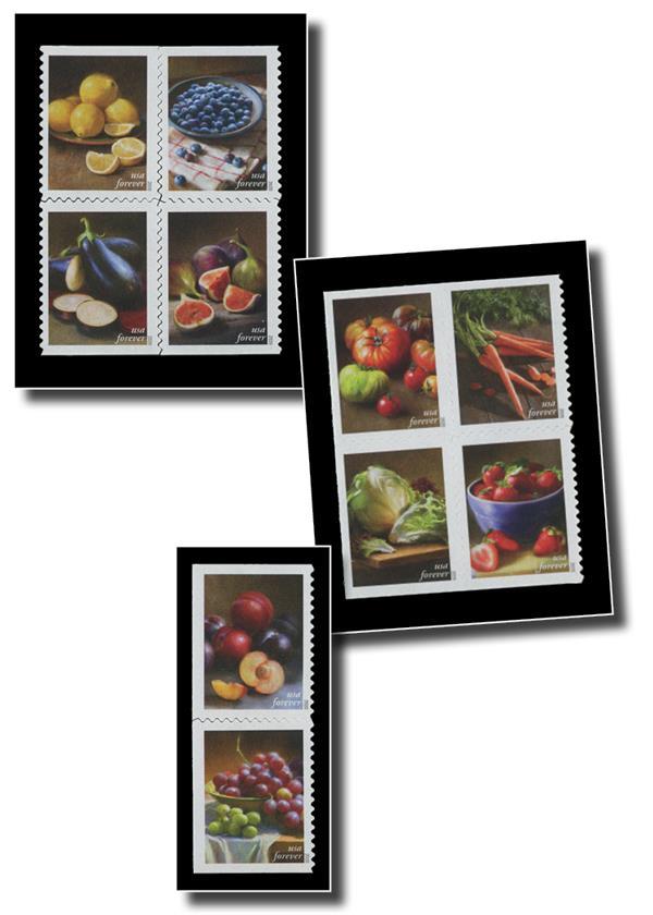 Black Split-Back Mounts for 2020 Fruits & Vegetables: 5484-93