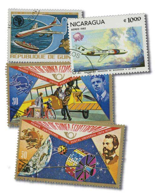 Item #MP1131 – 50 worldwide stamps honoring the U.P.U.