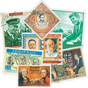 US Presidents/ Foreign Stamps 100v