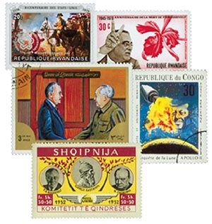 US Presidents on Foreign Stamps, 50v