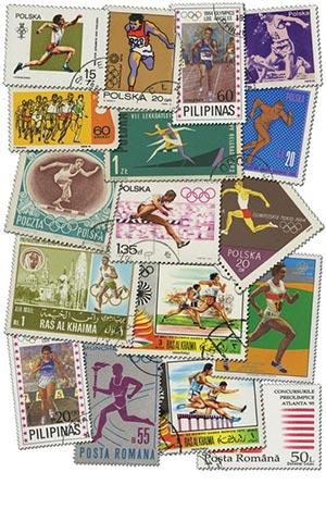 100 Worldwide Running Stamps