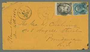 1873 2c Jackson (Scott #73) & 2c Revenue Stamp on Cover