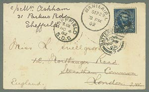 1898-99 Grant (PH216) on Cover from Philippine Islands to London, England