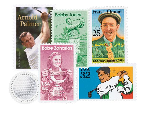 Golf Collection, Mint, Set of 6 Stamps, US