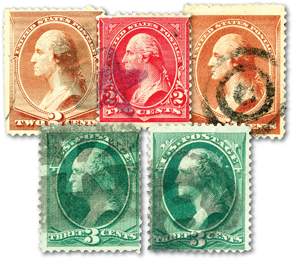 Pre 1900 Fancy Cancels  May Include Targets, Stars, Numbers, or Grids. Set of 5 with small imperfections