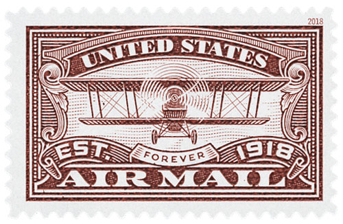 2018 First Class Forever Stamp - Red 'Airmail'