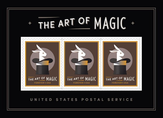2018 50¢ The Art of Magic souvenir sheet