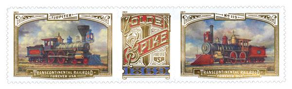 2019 First-Class Forever Stamp - Transcontinental Railroad 150th Anniversary