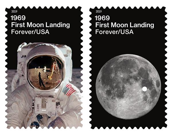 2019 First-Class Forever Stamp - Moon Landing