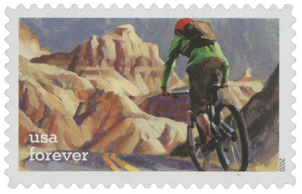 2020 First-Class Forever Stamps - Enjoy the Great Outdoors: Biking