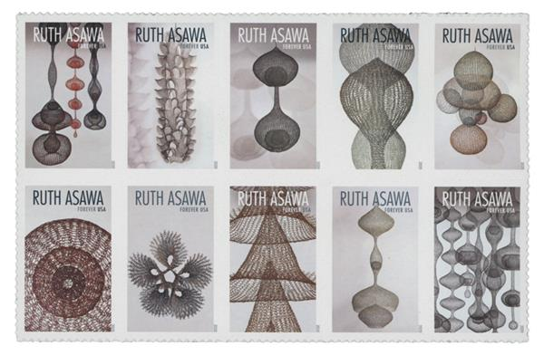 2020 First-Class Forever Stamps - Ruth Asawa