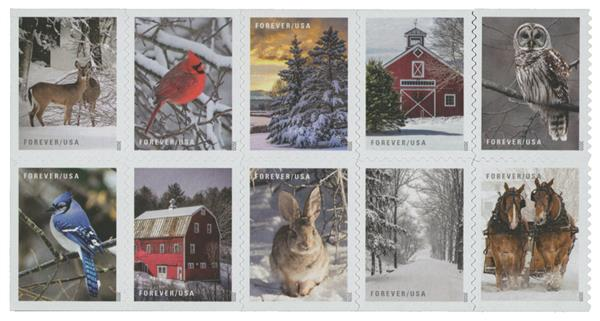 2020 First-Class Forever Stamps - Winter Scenes