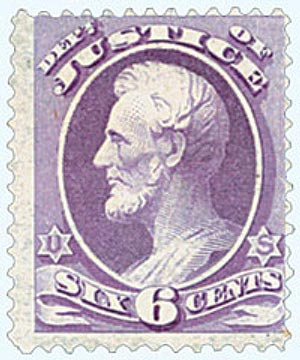 1879 6c bl pur, justice, soft paper