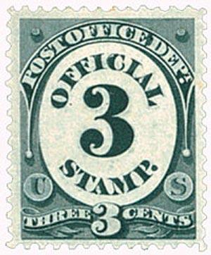 1879 3c Black, Post Office Department, Washington, Soft Paper