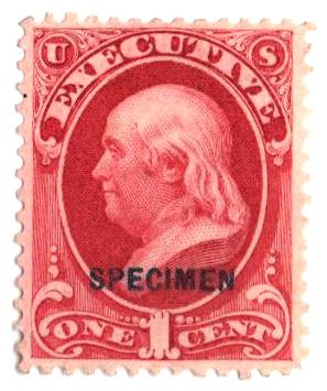 1875 1c carmine