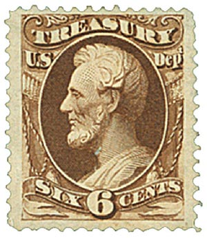 1879 6c brn, treasury, soft paper