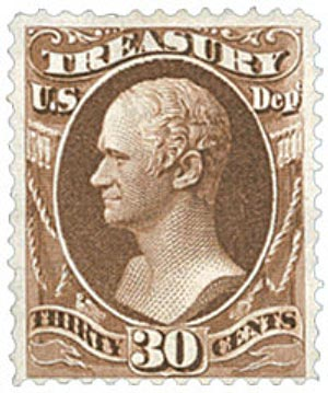 1879 30c brn, treasury, soft paper